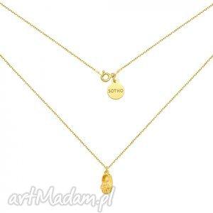 złoty naszyjnik z dziewczęcym bucikiem, dziecięcy, srebro