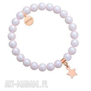 bransoletka z opalizujących pereł swarovski® crystal z - święta