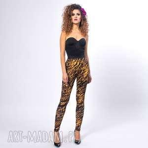 ręczne wykonanie legginsy - zebra gold