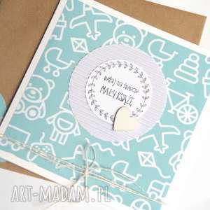 dla Małego Księcia :: kartka handmade, chłopczyk, chłopca, narodziny