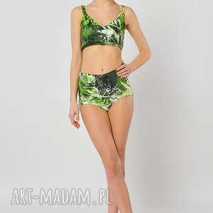 Dżungla - figi z wysokim stanem, figi, majtki, jersey