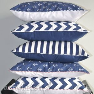 Poszewka na poduszką w stylu marynistycznym, poduszka, poszewka, marynarska