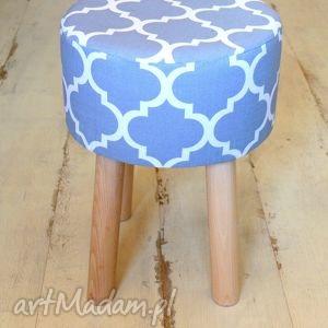 handmade pufy stołek fjerne m ( szara koniczyna )