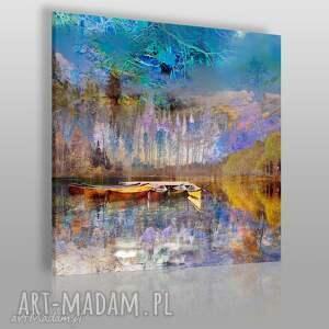 obraz na płótnie - pejzaż góry w kwadracie 80x80 cm 30704, pejzaż, krajobraz