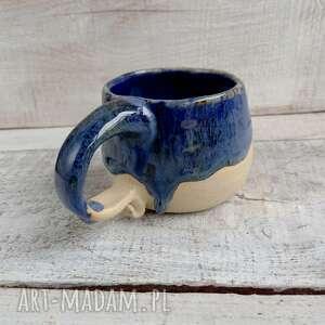 kubki uroczy kubeczek z zaciekiem, kubek ceramiczny, ręcznie robiony