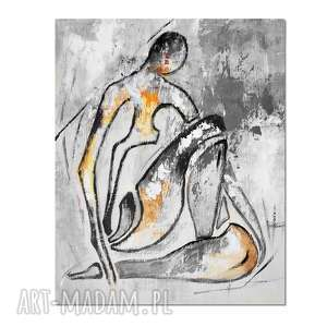 Chiara, abstrakcja, nowoczesny obraz ręcznie malowany, postać,