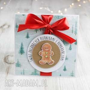 kartka świąteczna na boże narodzenie - czerwone scrapbooking