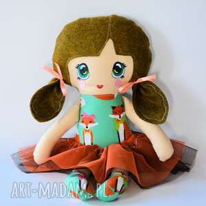 motylarnia lala animka - lusia 43 cm, lalka, animka, bezpieczna, tancerka, lisek