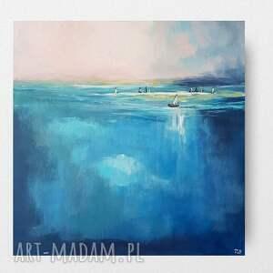 morze-obraz akrylowy formatu 60/60 cm, pejzaż, morze, marynistyka, obraz
