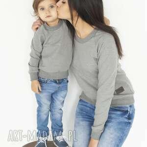 bluzy animals by libou zestaw bluz dla mamy i dziecka szare, mama corka
