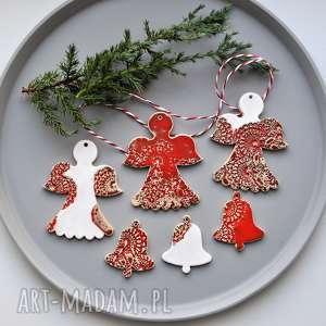 zestaw zawieszek choinkowych, ozdób świątecznych - 6 szt 5 ozdoby choinkowe