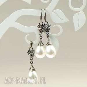 Komplet srebrny emma z perłami seashell a796-klp artseko