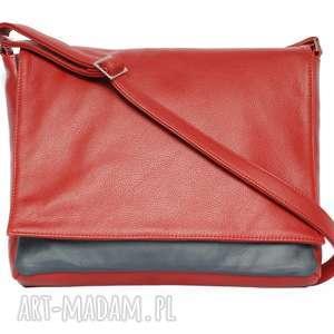 35-0001 Czerwona torebka aktówka damska do szkoły i na studia ROBIN, markowe-torebki