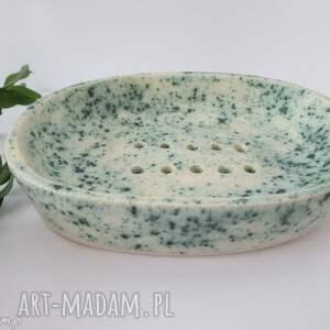 mydelniczka ceramiczna - ,dekoracyjna,mydelniczka,z,ceramiki,handmade,ceramiczna,