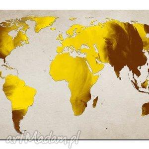 obraz mapa świata -dms9 - 120x70cm na płótnie, obraz, mapa, świata