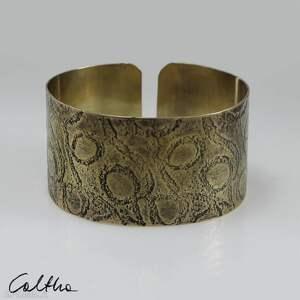 ręcznie robione pętle - mosiężna bransoletka 190111 -04