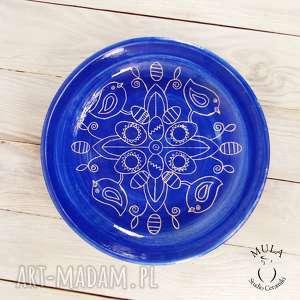 hand made ceramika patera - misa sgraffito wielkanoc