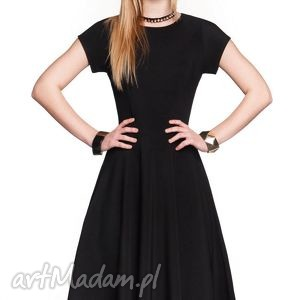 Sukienka STAR Midi Czarna, sukienka, czarna, midi, rozkloszowana, elegancka