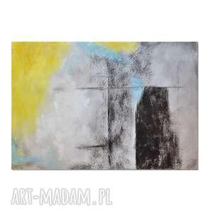abstrakcja xzs /r70100/, nowoczesny obraz ręcznie malowany