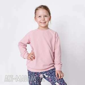 bluza dresowa pudrowy róż, basic, gładka, bawełniana