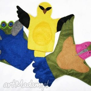 Filcowa pacynka koliber - maskotka do kreatywnej zabawy zabawki