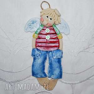 pokoik dziecka karol na spacerze - anioł z masy solnej, anioł, dekoracja, prezent