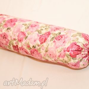 ozdobna poduszka wałek, poduszka, dekoracja, kwiaty, głowa, stopy