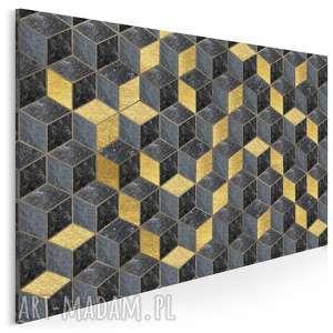 obraz na płótnie - geometryczny art deco 120x80 cm (81101)