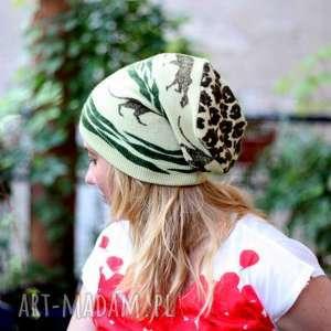 czapki czapka wełniana-mnie wstrząsa na widok wąsa, czapka, zima, mama, wełna, sport