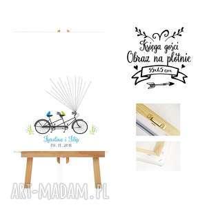 księgi gości księga - tandem pary młodej, ślub, rower, wesele