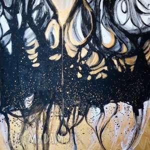 """""""przenikanie"""" obraz akrylowy na płótnie 100x70cm artystki"""