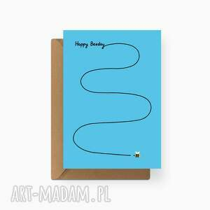 kartki ekologiczna kartka okolicznościowa urodzinowa bidagen, minimalizm