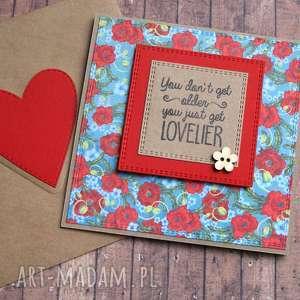 urocza KARTKA URODZINOWA handmade :: maki, urodziny, urodzinowa