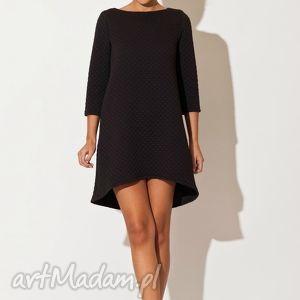 Asymetryczna sukienka z pikówki sukienki knitcat sukienka