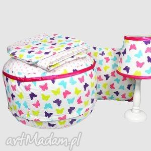 zestaw magic butterflies - zestaw, puf, poduszka, lampka, popielewska, style