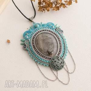 handmade biżuteria wisior naszyjnik sutasz w stylu retro