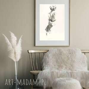 oryginalne prezenty, galeria alina louka nude back 39x57, obraz do sypialni