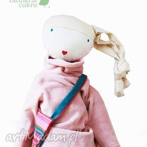 sofia pink lalka z sercem, lalka, szmacianka, przytulanka, włosy, ubranka, lala