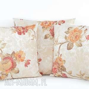 poduszki komplet poduszek dekoracyjnych rose - 3 sztuki, poduszka, poszewka