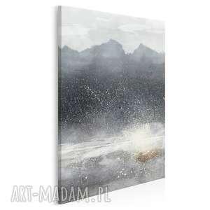 obraz na płótnie - góry abstrakcja zima modern w pionie 50x70 cm 93604