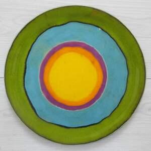 optymistyczny talerz ceramiczny, patera, ceramiczna, dekoracyjny