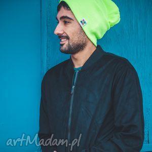 hand made czapki alternatywny neon long
