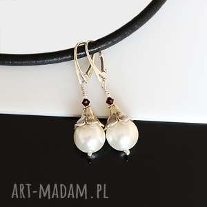 perły seashell - kolczyki