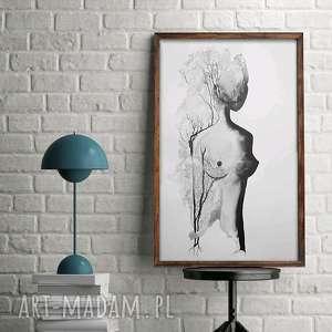 50x70 akt abstrakcja plakat kobieta duży obraz do sypialni