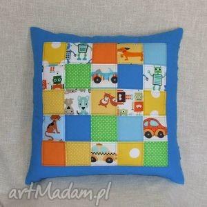 ręcznie robione pokoik dziecka patchworkowa kolorowa poduszka