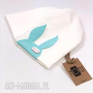 handmade czapki czapka królik ecru