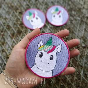 ręczne wykonanie akcesoria naszywka unicorn