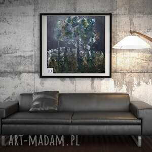 Zielone drzewa esterka drzewa, pasta, obraz, abstrakcja,