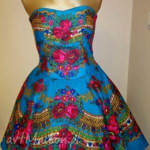 wyjątkowy prezent, sukienka folk tustela, sukienka, folk, wzór