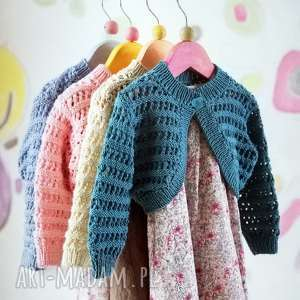 Sweterek girona b a o l sweterek, bolerko, bawełna, prezent